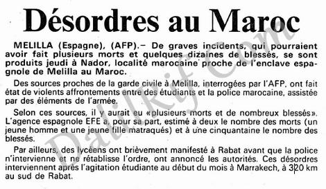Dépêche de l'AFP sur les émeutes. / Ph. DR