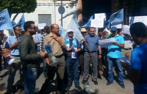 إضراب و وقفة إحتجاجية لعمال الطاقة بالحسيمة