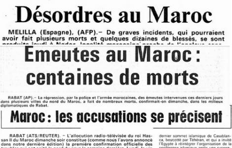 أحداث إنتفاضة 1984 بالريف كما تناقلتها وسائل إعلام دولية انذاك