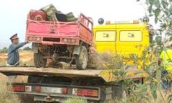 مصرع زوجين واصابة خمسة من ابنائهما في حادث مأساوي بالدريوش