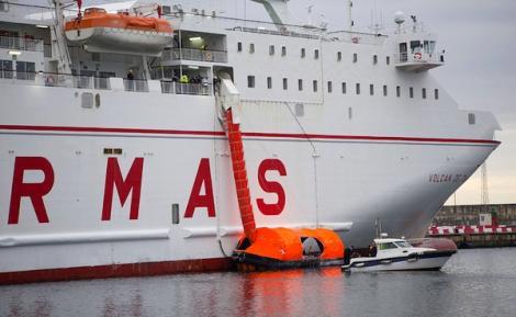 """""""اخلاء وهمي"""" لسفينة ارماس التي تربط موتريل بالحسيمة والناظور"""