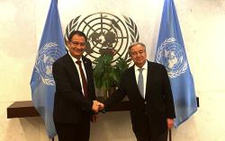 الأمين العام للأمم المتحدة غوتيريس يستقبل محمد بودرا عمدة مدينة الحسيمة