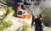 احتراق حافلة كانت تقل عناصر امنية بمدخل اقليم الحسيمة