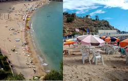 """ظاهرة احتلال الشواطئ بـ""""مظلات الكراء"""" تعود بقوة الى الحسيمة وتثير استياء المصطافين"""