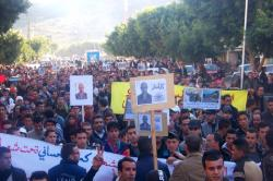 الصورة من مسيرة نظمت في اربعينية كمال الحساني العام الماضي
