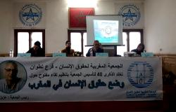 في ذكرى تأسيسها الأربعين... AMDH تسلط الضوء على وضع حقوق الإنسان بالمغرب