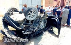 حادثة سير خطيرة قرب اجدير ترسل 4 مصابين الى المستعجلات