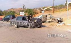 7 مصابين بجروح خطيرة في تصادم عنيف بين سيارتين ببني بوعياش
