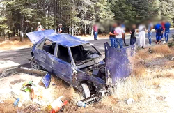 اصابة خمسة اشخاص اثر حادثة سير يوم العيد نواحي الحسيمة