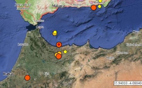 هزات أرضية مُتجدّدة تُخرج السكان من منازلهم غرب إقليم الحسيمة