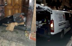 السلطات بمدينة الحسيمة تجمع المشردين لحمايتهم من البرد
