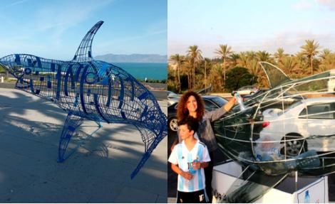 الحسيمة.. مجسم سمكة للتخلص من مخلفات البلاستيك المهددة للحياة البحرية