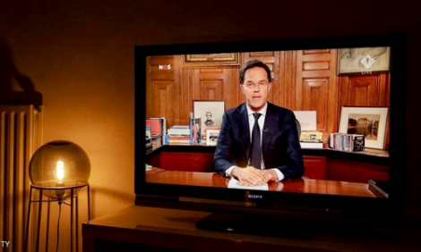 """رئيس وزراء هولندا: """"كورونا"""" سيصيب غالبية المواطنين في البلاد"""