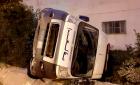 سيارة إسعاف تتعرض لحادثة سير بمدخل مدينة الحسيمة