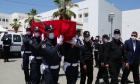 جنازة الشرطي الذي قتل بالسلاح الابيض بالحسيمة