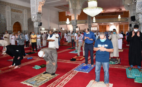 صلاة الجمعة تعود الى العديد من مساجد اقليم الحسيمة