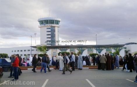 """تراجع عدد المسافرين عبر """"مطار الناظور"""" في 2015"""