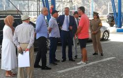 والي الجهة وعامل الاقليم يتفقدان عملية العبور بالمحطة البحرية للحسيمة