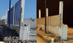 سلطات ميناء الحسيمة تهدم الحائط الذي بنته حول شاطئ كيمادو