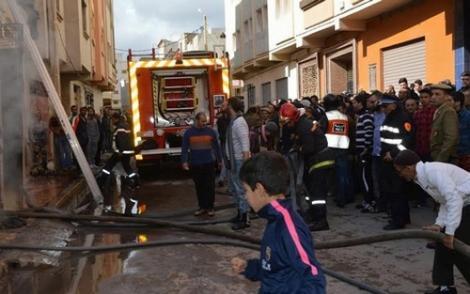 حريق في منزل بالناظور يخلف وفاة سيدة وثلاثة من اطفالها