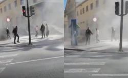 اسبانيا .. مغربي يضرم النار في جسده امام مقر الشرطة في مورسيا (فيديو)