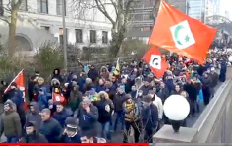 مسيرة حراكية أمام البرلمان الأوربي