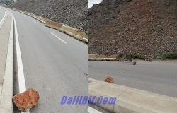 الحسيمة.. انهيار صخري وترابي يهدد سلامة مستعملي الطريق السريع