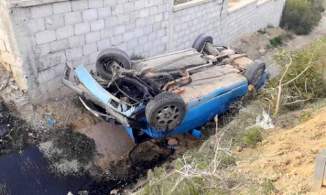 الحسيمة.. سيارة اجرة تتعرض لحادثة سير خطيرة قرب اجدير