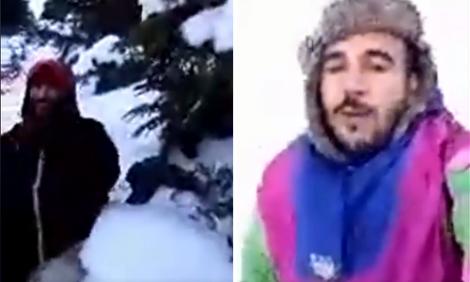 محاصرين وسط الثلوج .. شخصان يطلقان نداء استغاثة من جبل تدغين نواحي اساكن بالحسيمة (فيديو)