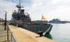 سفينة حربية اسبانية تتجول قبالة سواحل اقليم الحسيمة
