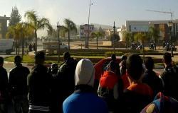 إصابات و اعتقالات في مواجهات عنيفة بوجدة بين الطلبة و القوات العمومية