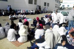 ممرضو وطلبة الحسيمة ينظمون اعتصاما جزئيا احتجاجا على مرسوم الوردي