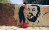 رسم صورة للزفزافي على حائط يقود رساما للاعتقال