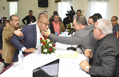 اوراش يرسل رئيس المغرب الفاسي لكرة السلة الى المستشفى