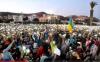 احتجاج تحت الأضواء في ساحة الحسيمة