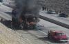 النيران تأتي على حافلة لنقل المسافرين انطلقت من الناظور