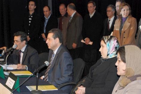 الصورة من حفل تنصيب اللجنة الجهوية بالحسيمة