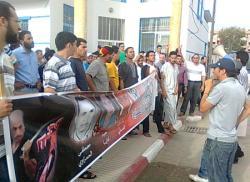 اشكال احتجاجية متفرقة لفروع اقليم الحسيمة للمعطلين