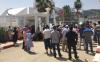 معطلو اقليم الحسيمة يحتجون امام مقر المجلس الاقليمي