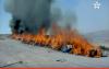 إحراق أطنان من المخدرات والسجائر بزايو